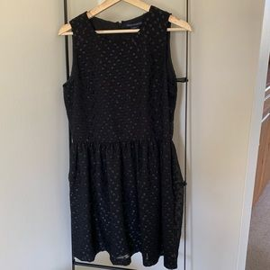 French Connection little black dress with dots